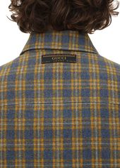 Gucci Micro Check Wool Blend Jacket