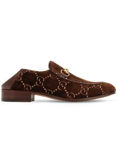 Gucci Mister Gg Supreme Velvet Loafers