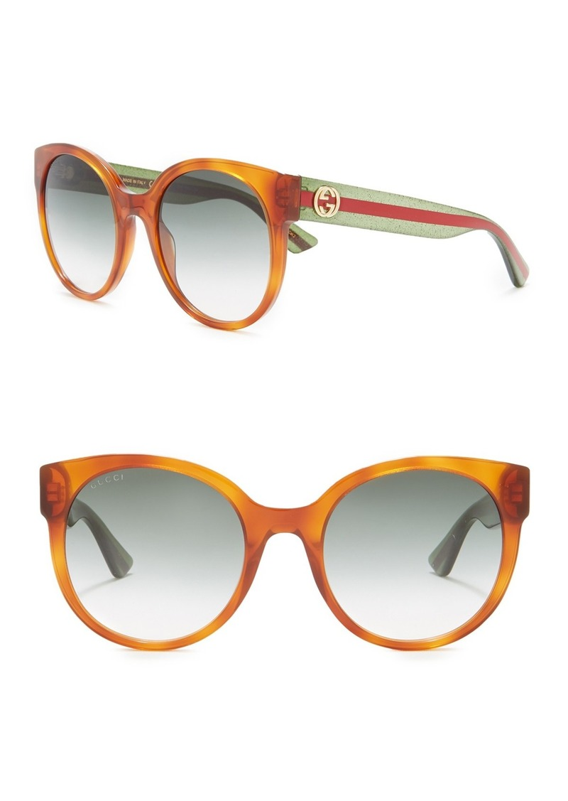 Gucci 54mm Round Cat Eye Sunglasses