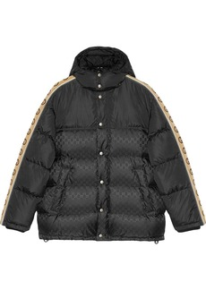 Gucci monogram pattern padded coat