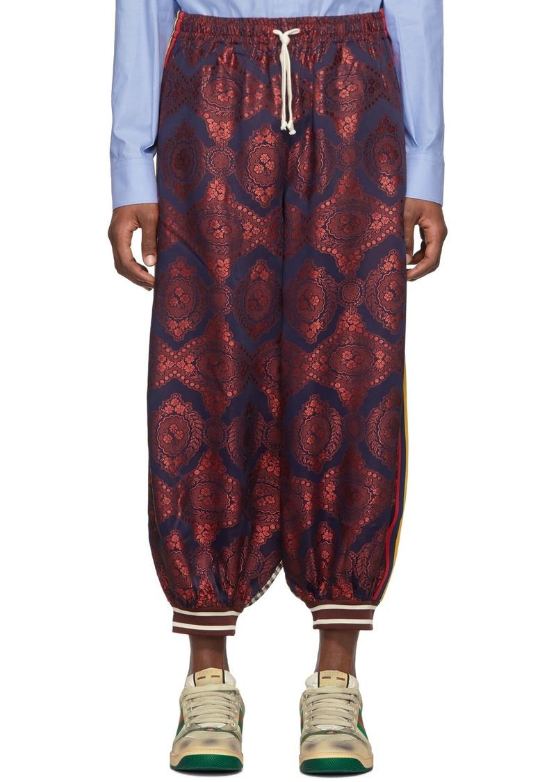 Gucci Multicolor Bi-Material Harem Loung Pants
