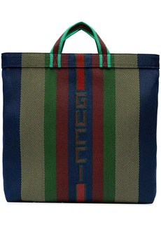 Gucci Multicoloured Stripe Logo Tote