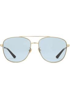 Gucci Navigator metal sunglasses