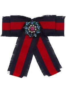 Gucci Navy & Red Ribbon Brooch
