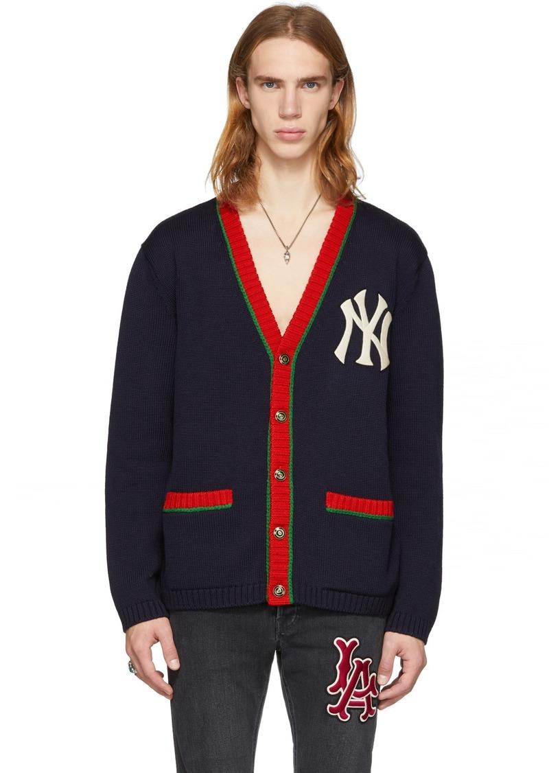Gucci Navy NY Yankees Edition Cardigan