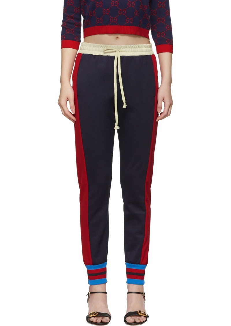Gucci Navy Tricolor Stripes Lounge Pants