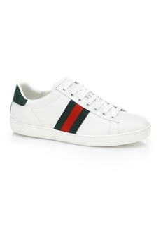 Gucci New Ace Leather Lace-Up Sneakers