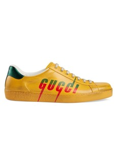 Gucci New Ace New Logo Leather Sneakers
