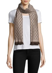Gucci New Sten GG Wool Scarf