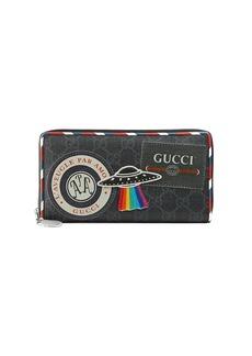 Gucci Night Courrier GG Supreme zip around wallet