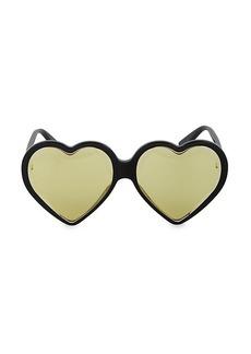 Gucci Novelty 60MM Heart Sunglasses