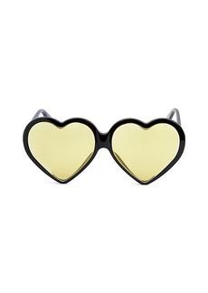 Gucci Novelty 62MM Heart Sunglasses