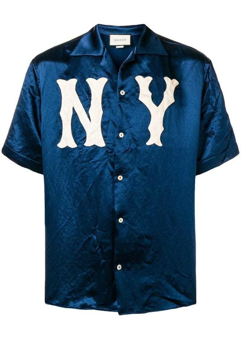 a898bfe8a56a Gucci NY Yankees™ patch bowling shirt | Casual Shirts