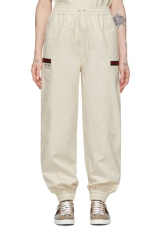 Gucci Off-White Canvas Panama Lounge Pants