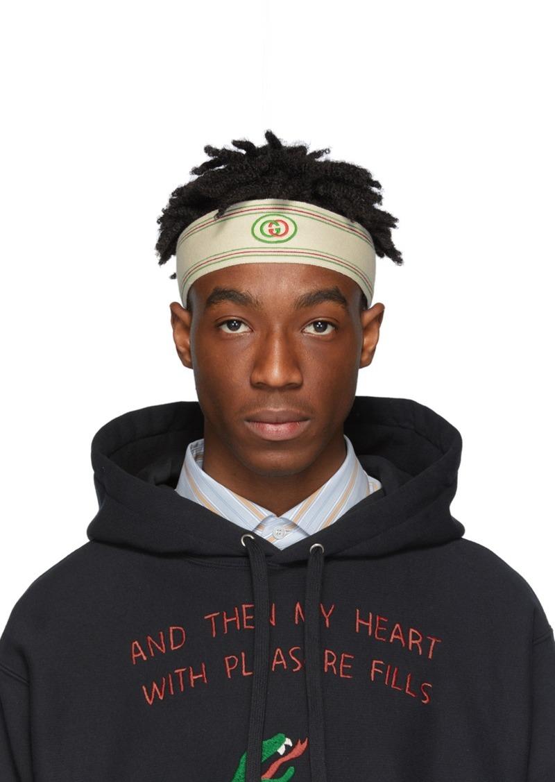 Gucci Off-White GG Headband & Wristband Set