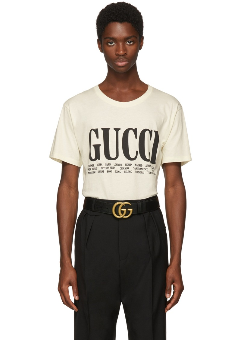 5c49b75f Gucci Off-White 'Gucci Cities' T-Shirt | T Shirts