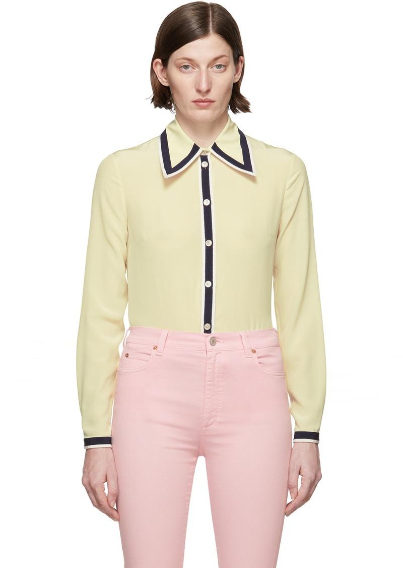 Gucci Off-White Silk Crepe Shirt