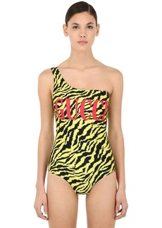 Gucci One Shoulder Lycra One Piece Swimsuit