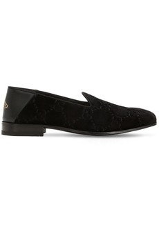 Gucci Open Gallipoli Gg Velvet Loafers