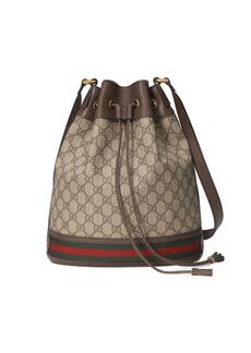 Gucci beige and ebony Ophidia GG bucket bag
