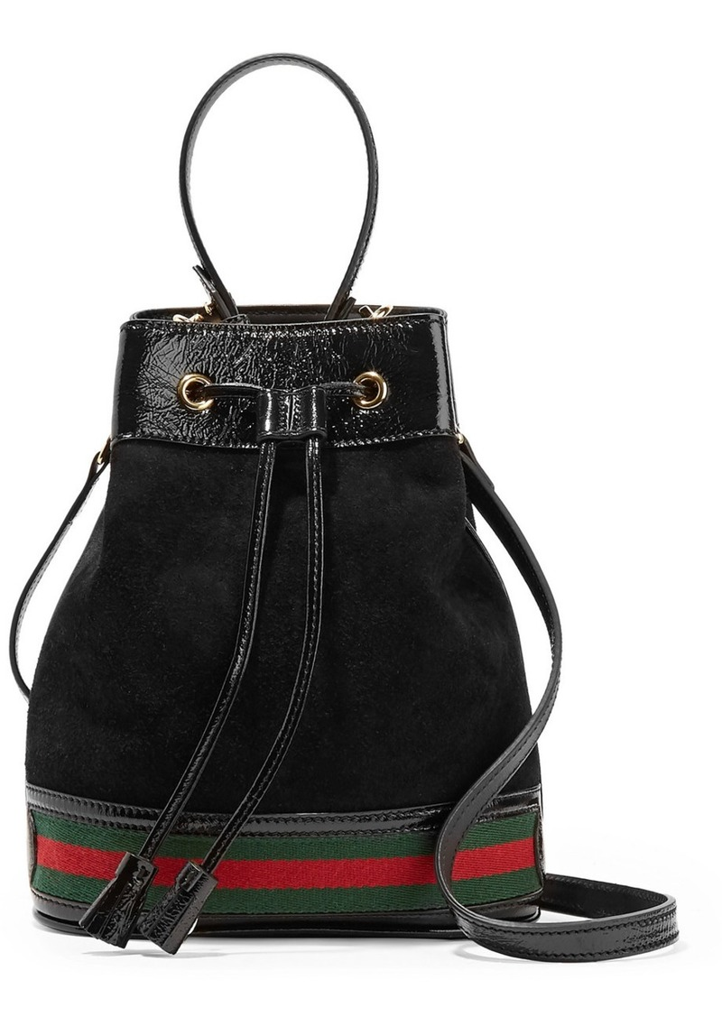 acc6faa60167da Gucci Ophidia Small Textured Leather-trimmed Suede Bucket Bag | Handbags