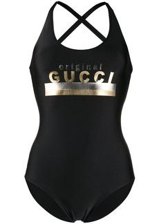 """Original Gucci"" print swimsuit"