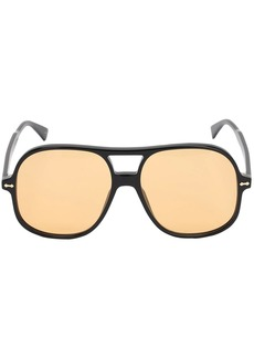 Gucci Oversize Acetate Aviator Sunglasses