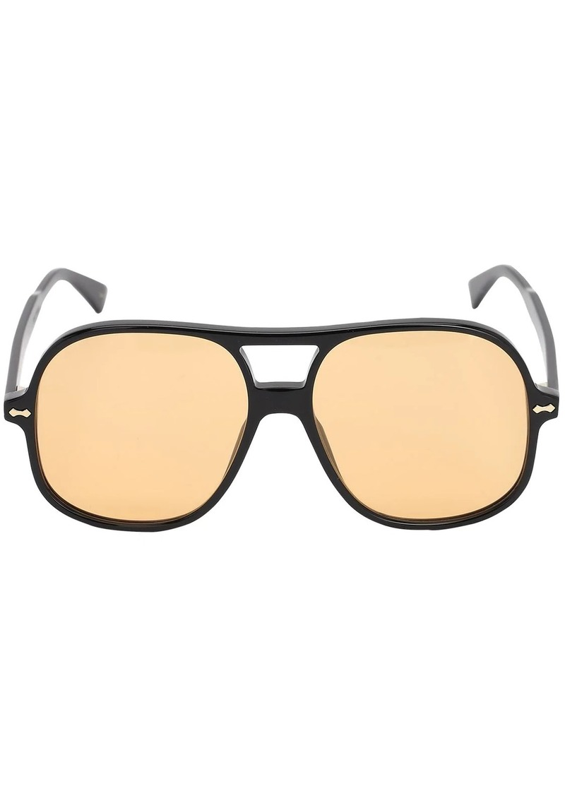 Gucci Oversize Acetate Aviator Sunglasses
