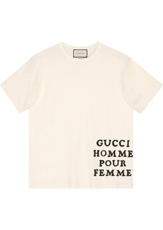 Gucci Oversize cotton T-shirt with appliqué