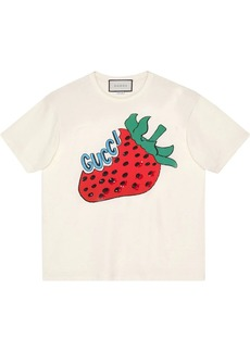 Gucci Oversize cotton T-shirt with strawberry