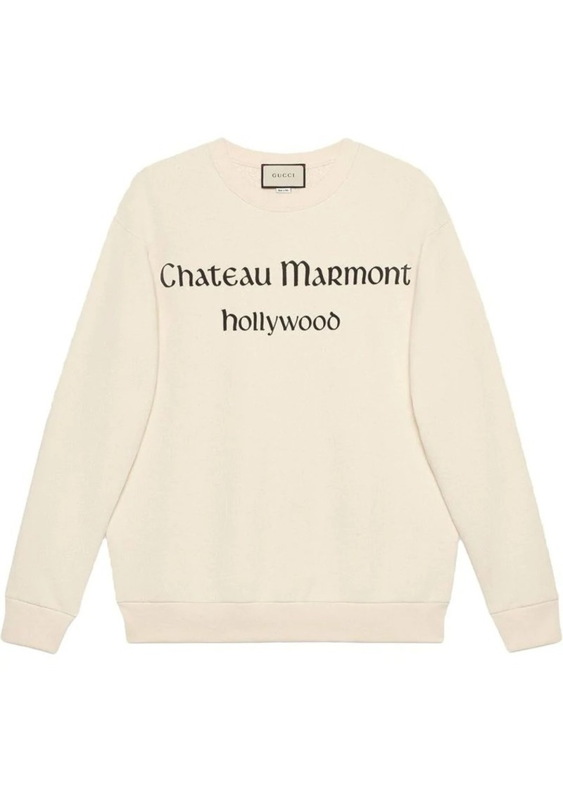 8f36833aee12 Gucci Oversize sweatshirt with Chateau Marmont | Outerwear