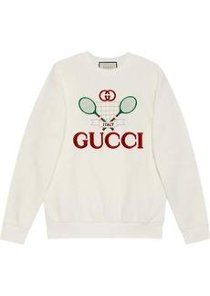 Oversize sweatshirt with Gucci Tennis