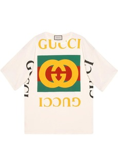 oversized T-shirt with Gucci logo