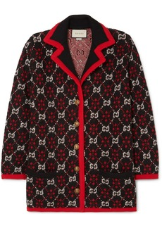 Gucci Oversized Alpaca And Wool-blend Jacquard Cardigan