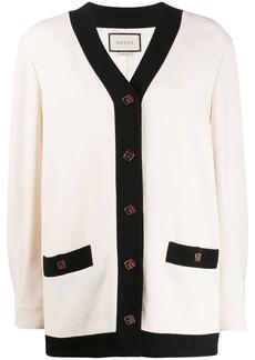 Gucci oversized contrasting trim cardigan