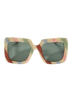 Gucci Oversized Glitter Sunglasses