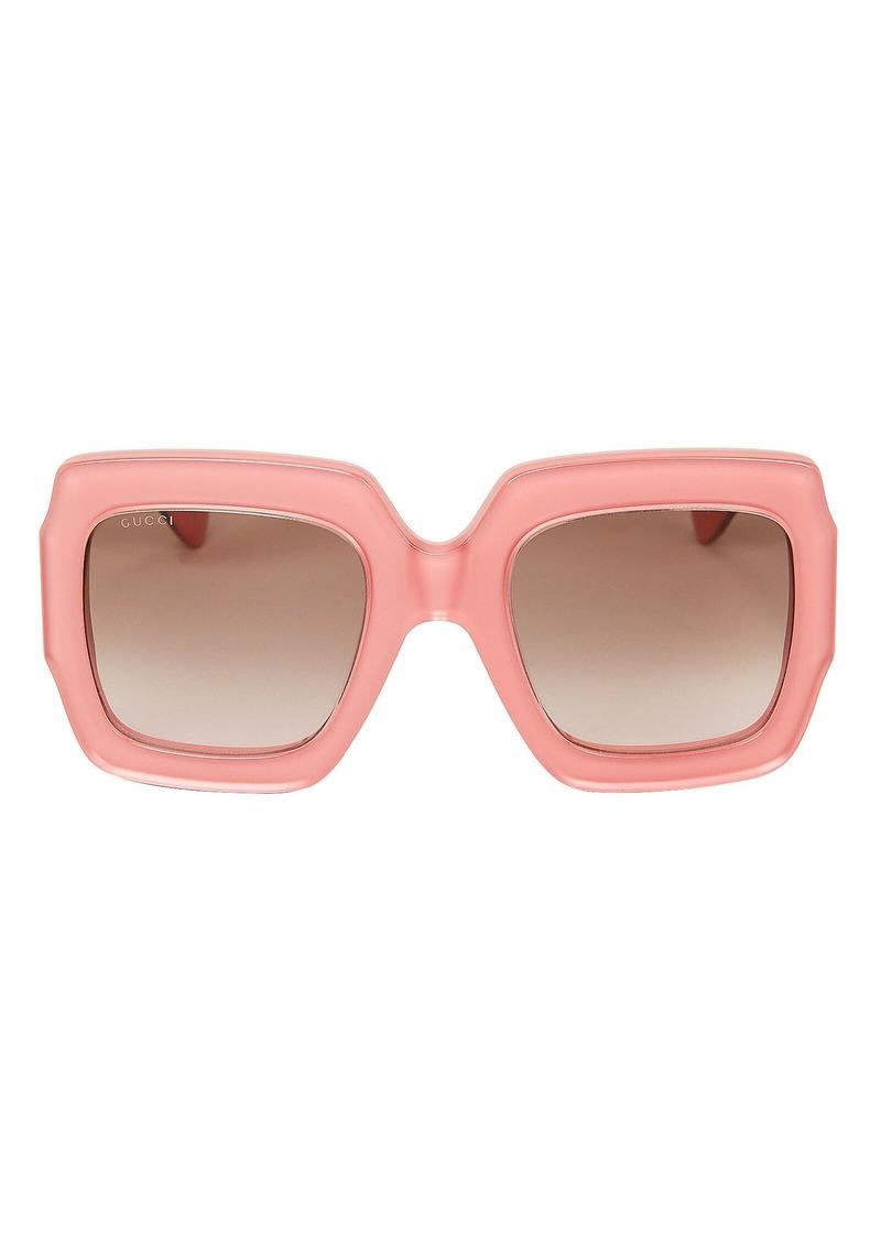 Gucci Oversized Pink Rectangle Sunglasses