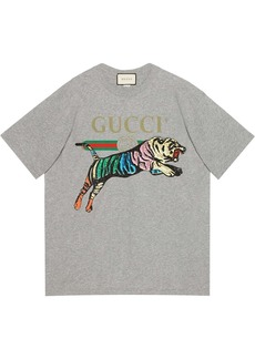 Gucci oversized tiger T-shirt