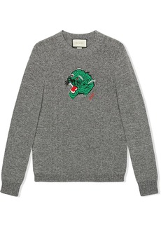 Gucci panther face knitted jumper
