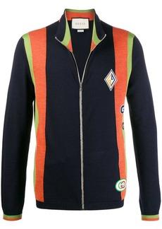 Gucci patch-embellished zipped sweatshirt