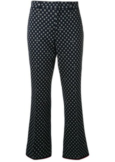 Gucci patterned flared trousers