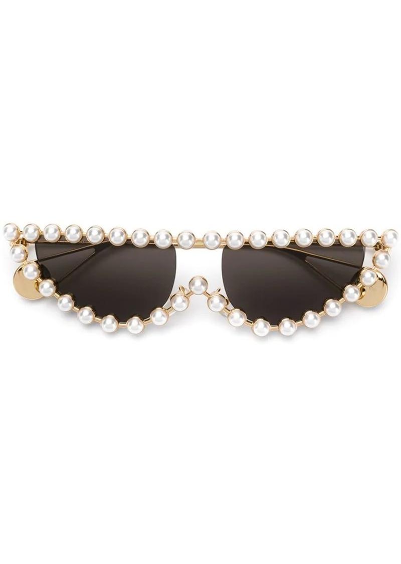 0b1ebdfd75669 Gucci pearl-embellished sunglasses