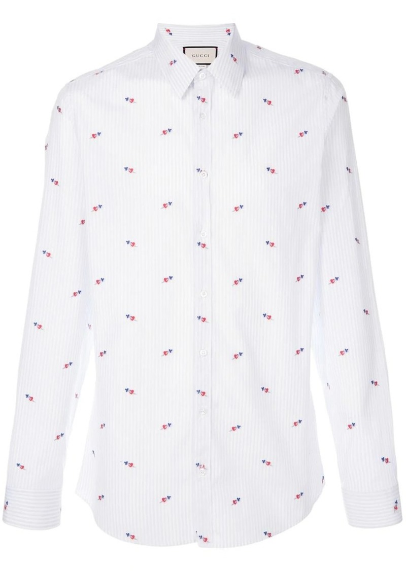 eaa18f20126 Gucci pierced hearts fil coupé shirt