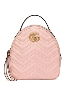Gucci Pink GG Marmont leather backpack