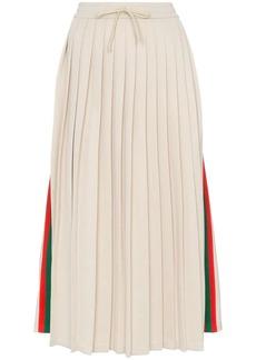 Gucci pleated ribbon skirt