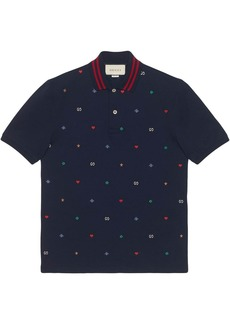 Gucci Polo with symbols embroidery