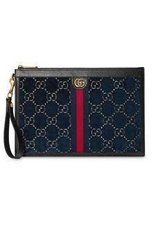 Gucci Pouch in velvet GG