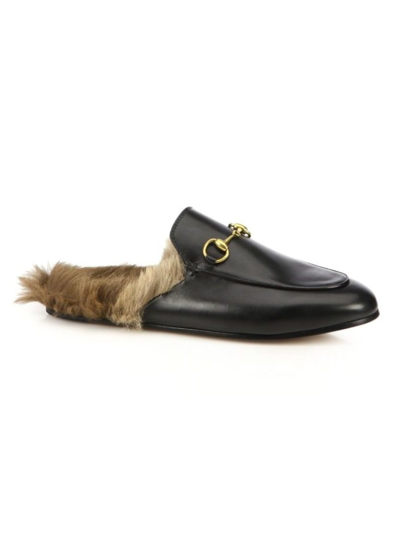 Gucci Princetown Fur-Lined Leather