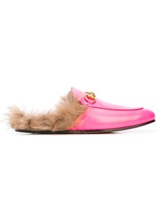 Gucci Princetown fur lined loafers