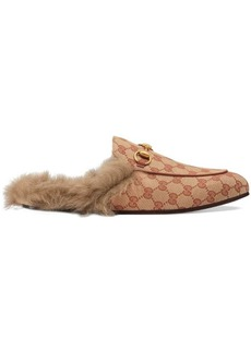 Gucci Princetown GG canvas slipper